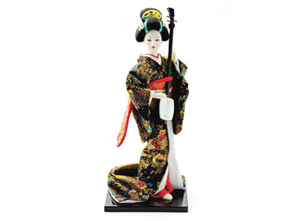 Japanese Lady Holding Shamisen