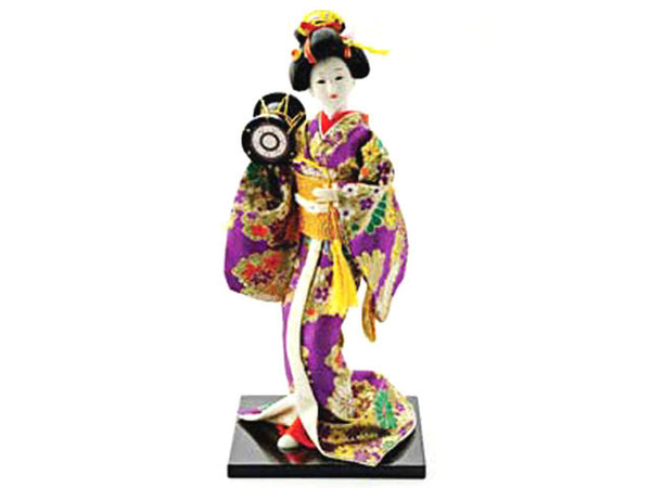 Japanese Lady Holding Hand Drum