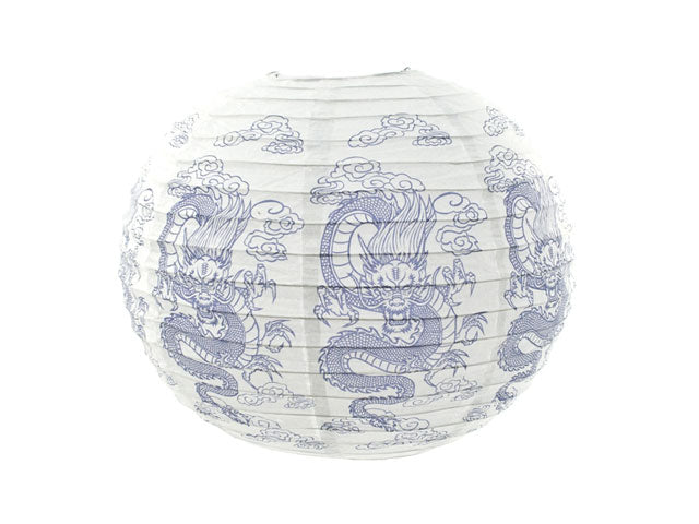 Dragon Print Paper Lantern -16 in.