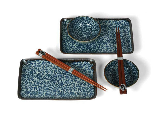 Blue Vine Kyo Karakusa Sushi Set for Two ( Out of Stock )