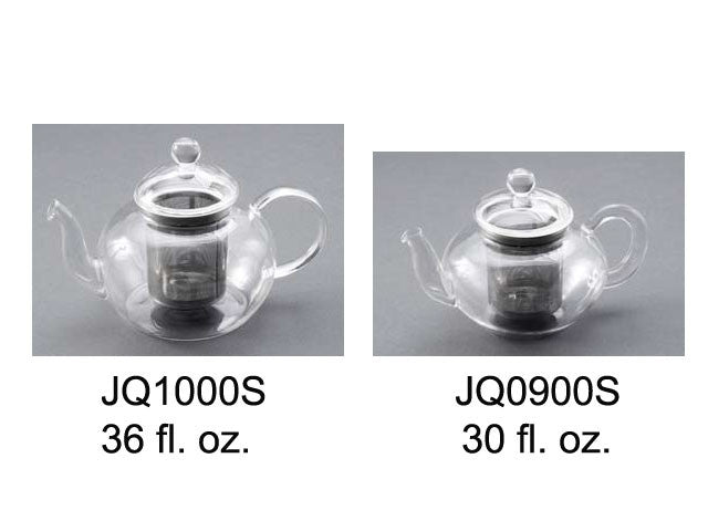 Glass Teapot (Glass Lid with Stainless Steel Infuser)