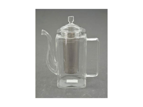 Tall Glass Teapot w. Stainless Steel Infuser
