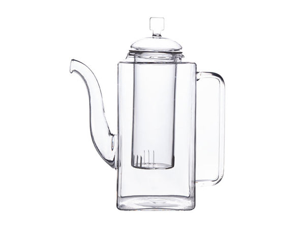 Tall Glass Teapot with Glass Infuser