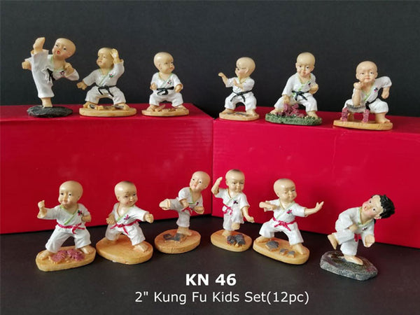 Kung Fu Kids Figurine Set - of 12