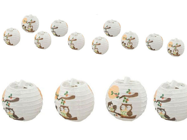 Owl Design Printed Paper String Lights