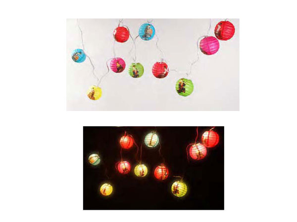 Geisha Print Multi Color Mini String Lights