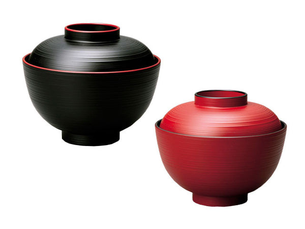 Lacquer Soup Bowl with Lid (4.25 inches)