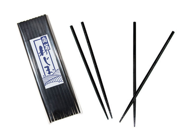 Black Lacquered Round Wooden Chopsticks