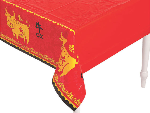 "Year of the Ox Plastic Tablecloth - 54"" x 104"""