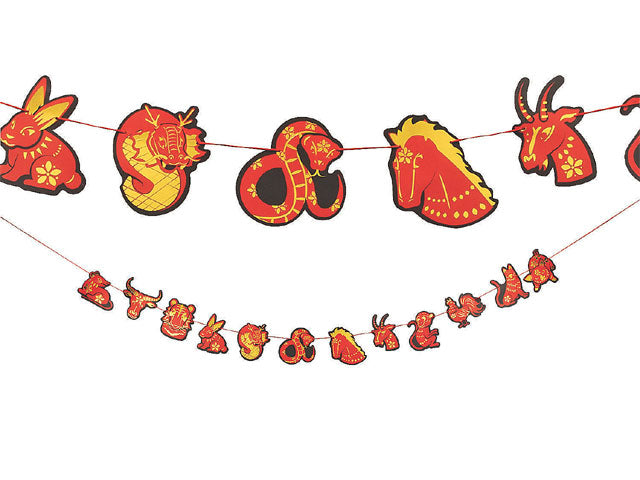 Chinese New Year Party Zodiac Animals Garland
