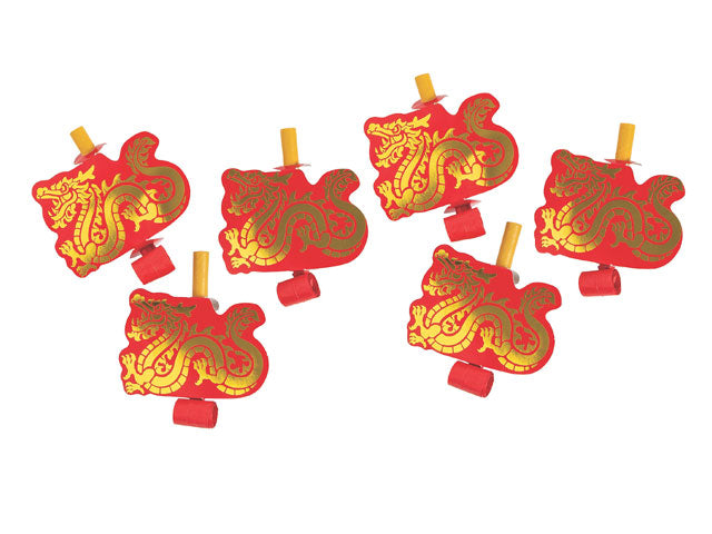 Chinese New Year Party Blowers (Pack of 6)