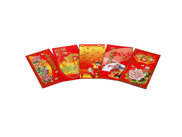 "Red Envelope with Color Print - 3.25"" x 4.5"""