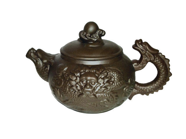 Dragon Relief Design Terra Cotta Teapot