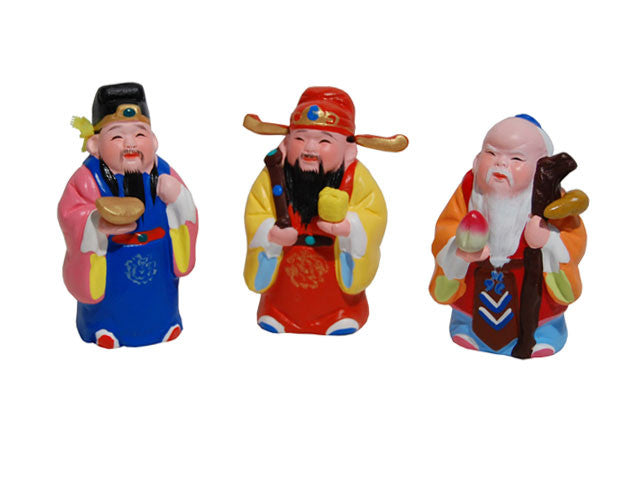 Hand Painted Clay Figurines - 3 Wise Men