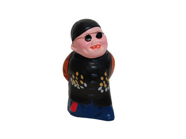 Hand Painted Clay Figurine (N) - Man with Beaming Face