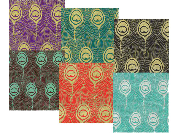 Peacock Feather Design Decorative Paper
