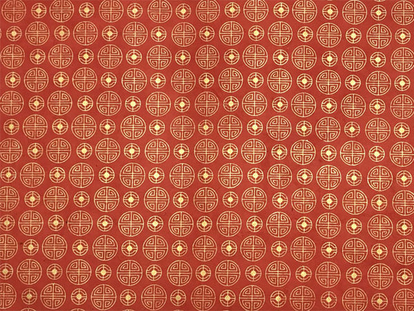 Lovely red wrapping with gold longevity characters