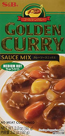 Box of Golden Curry Japanese curry mix (medium)