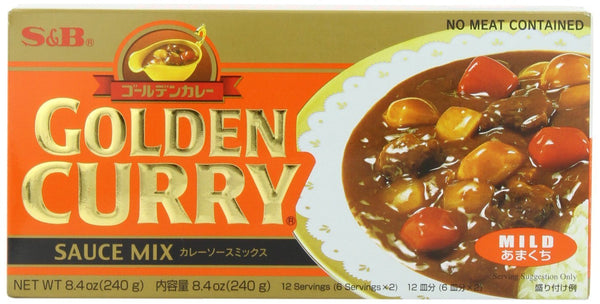 S & B Golden Curry Sauce Mix - Mild