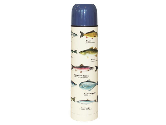 Multi Fish Design Vacuum Thermos Flask