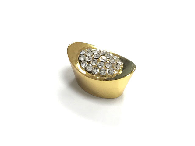 Golden Ingot with Diamond Stud - 1.25""