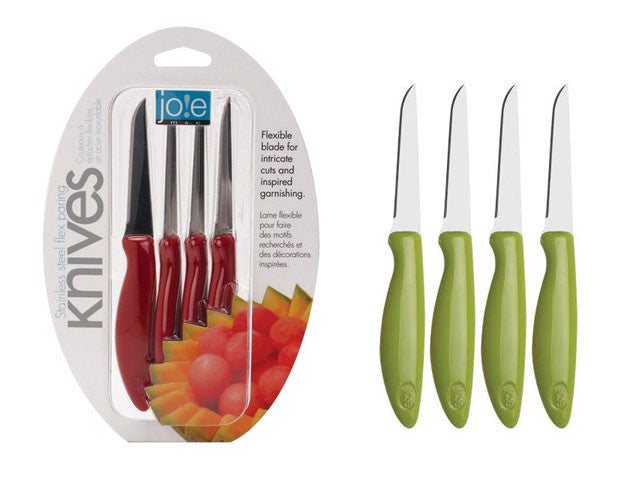 Stainless Steel Flex Paring Knives (Set of 4)