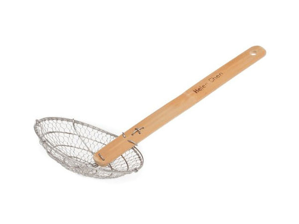 Stainless Steel Skimmer with Bamboo Handle