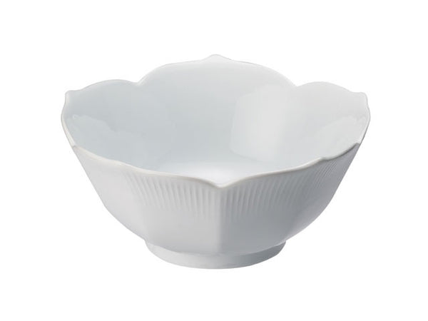 White Porcelain Lotus Bowl