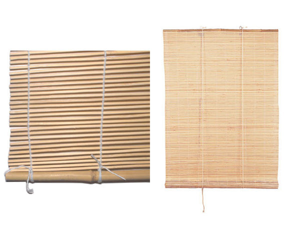 Durable woven natural beige bamboo window covers