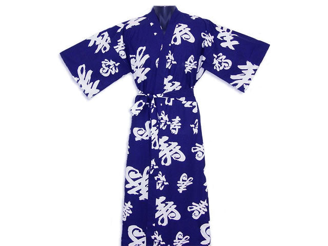 Calligraphy Cotton Print Robe