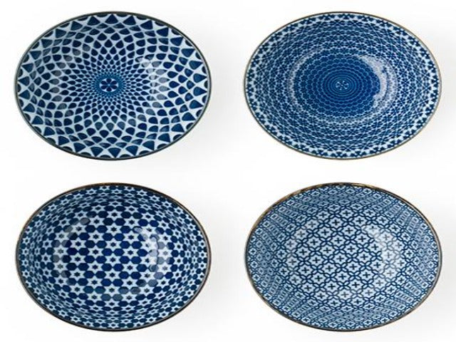 Blue on White Bowl Set (5 inch)