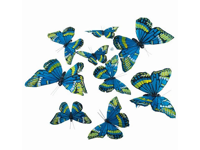 Various Sizes Blue Butterfly Garland