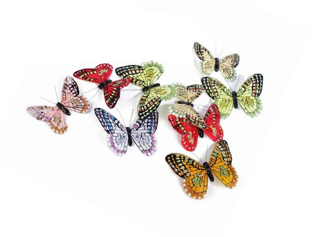 Glitter Feather Butterfly Garland