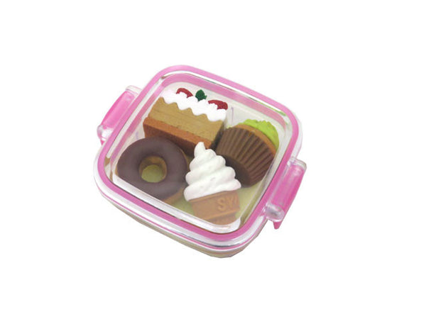 Mini Dessert Box Eraser Set