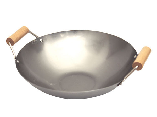 Double Spool Handles Flat Bottom Wok
