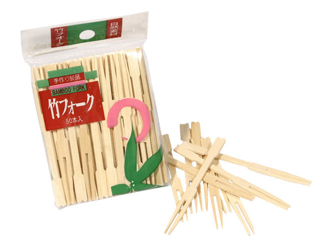 Bamboo Mini Forks - 3.5in.