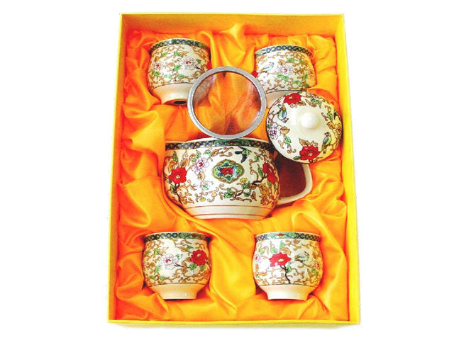 Ceramic Tea Set  ( 1 Tea Pot & 4 Cups )