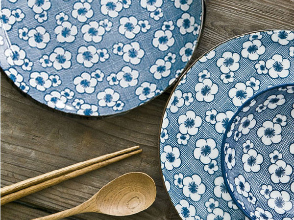 Blossom on Navy Mesh Design Ceramic Series