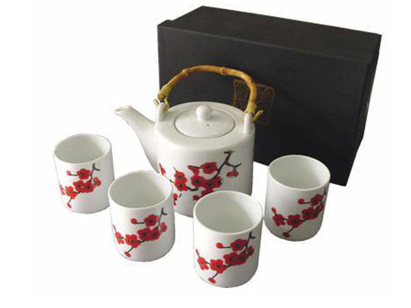 Blossoms Design Ceramic Tea Set