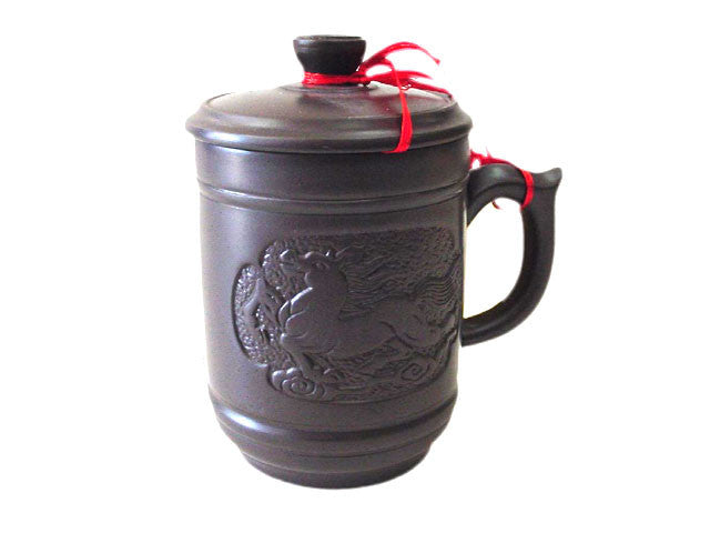 Terracotta Mug with Cover (Out of Stock)