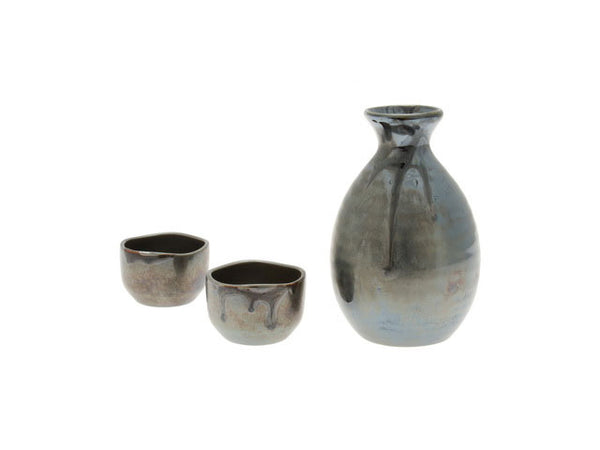 Black Luster Sake Set