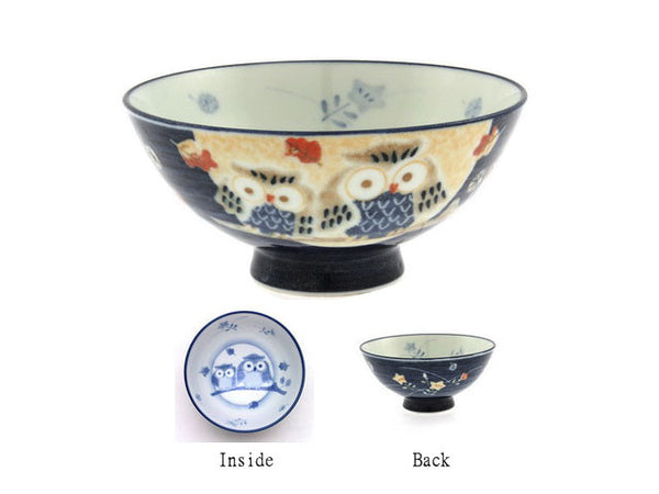 Owl Design Rice Bowl
