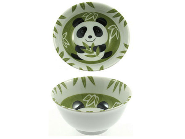 "Green Bamboo & Panda Design Bowl (5"")"
