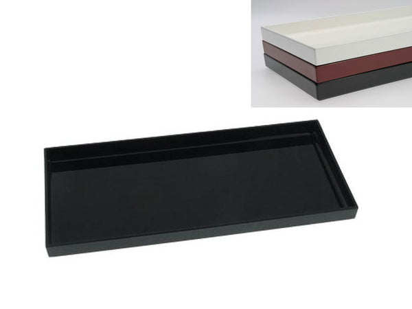 "Plastic Lacquer Serving Tray - Rectangular 16.5"" x 7.75"""