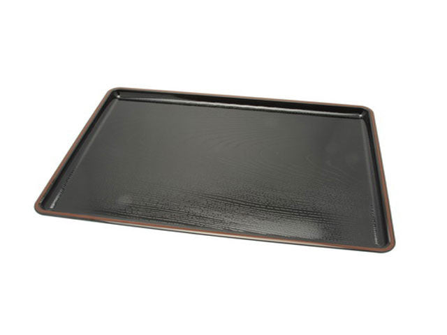 Woodgrain Design Plastic Lacquer Serving Tray