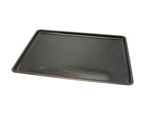 "Wood grain Design Plastic Lacquer Serving Tray - 14"" x 10.25"" ( Out of Stock )"