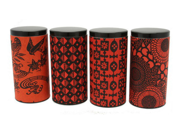Red/Black Safari Tea Canister