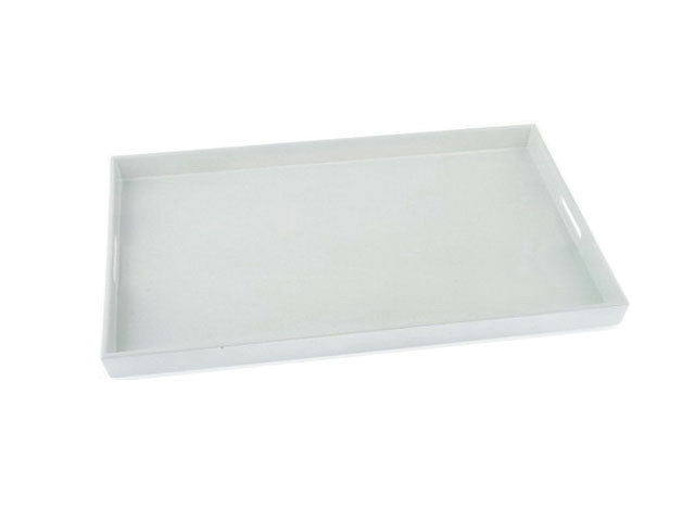 Plastic Lacquer Serving Tray with Handle - 19 in. x 12.5 in.