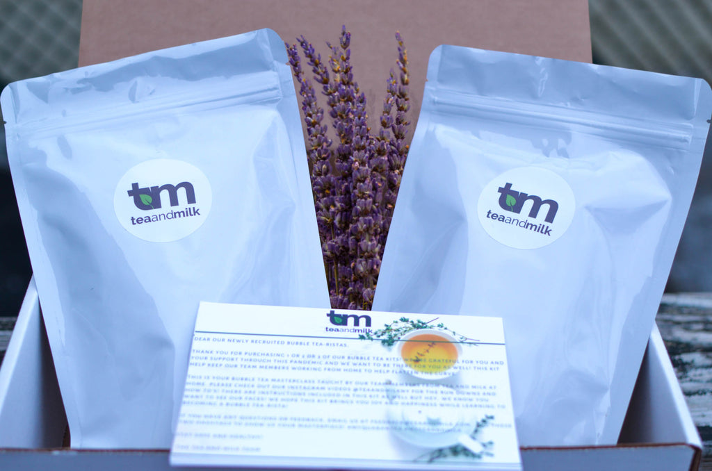 DIY Bubble Tea Kit: Lavender Flower Rooibos (With Metal Straw Kit)