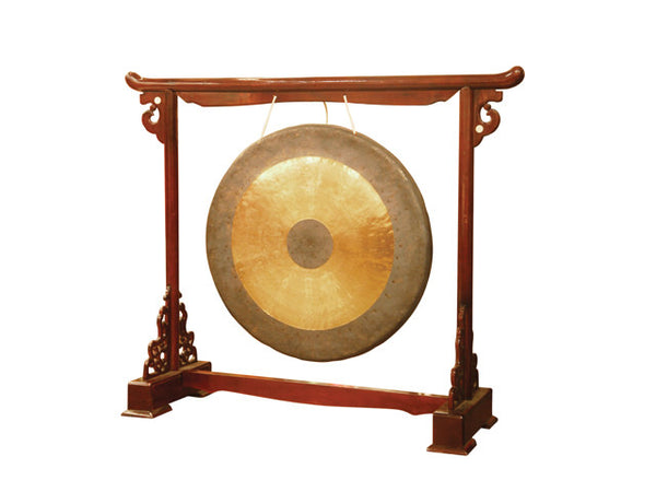 Bulls Eye Brass Gong with Mallet